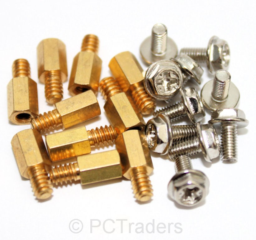 10x-6-5mm-Brass-Standoff-6-32-M3-PC-Case-Motherboard-Riser-Screws