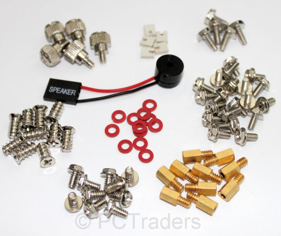 PC-Builder-Mega-Screw-Pack-M3-6-32-Standoffs-POST-Speaker-Washers-Jumpers