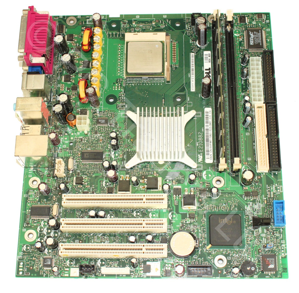motherboard bundle dell d28751 401 skt 478 celeron d 2. Black Bedroom Furniture Sets. Home Design Ideas