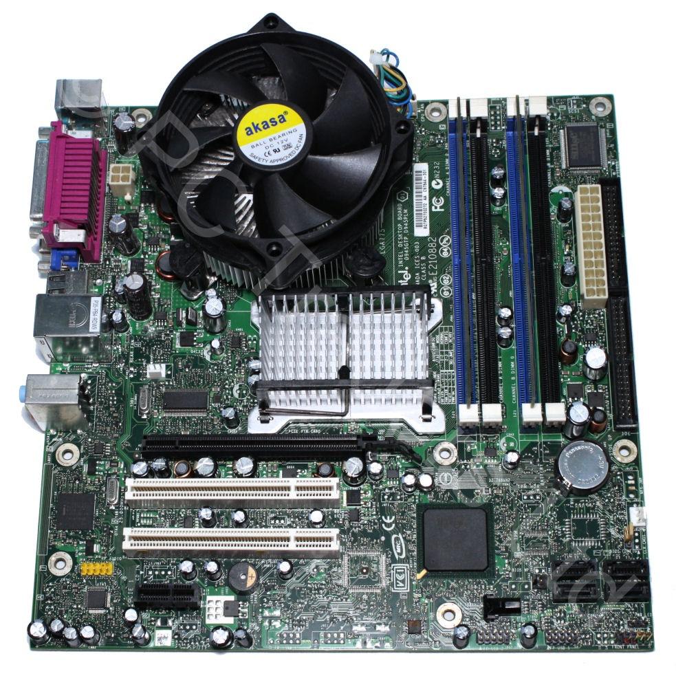 motherboard bundle intel dq945gtp intel celeron 326. Black Bedroom Furniture Sets. Home Design Ideas